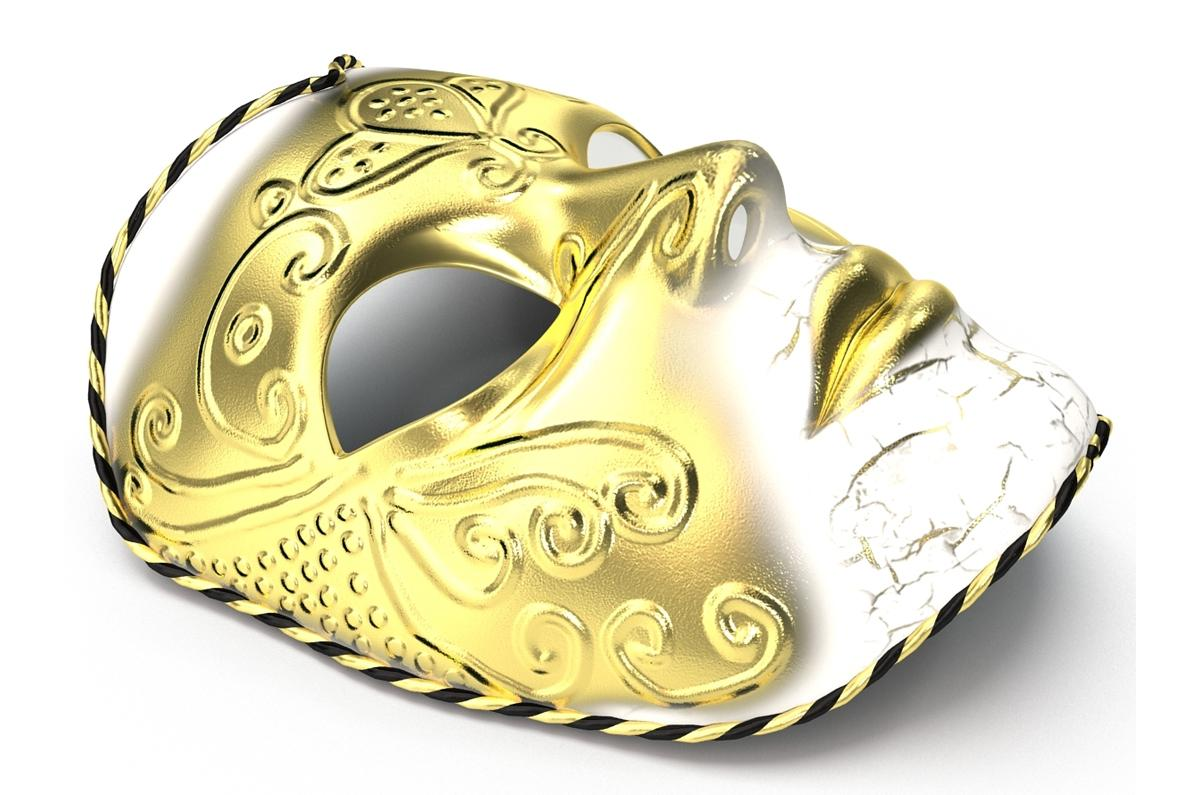 masquerade mask 3d model turbosquid