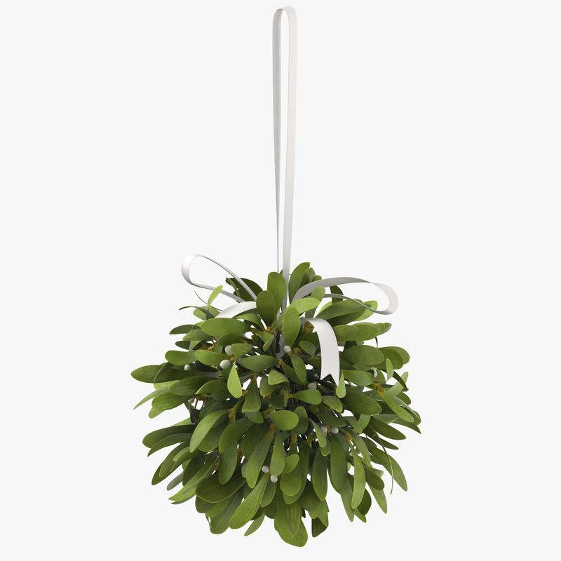 mistletoe bouquet christmas 3d model turbosquid