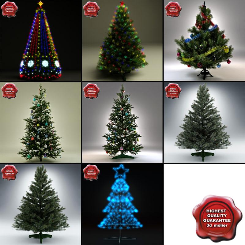 christmas trees 3d collection 3d model turbosquid