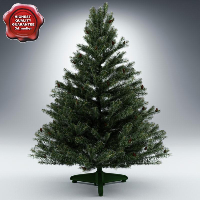 christmas tree home decor 3d model turbosquid