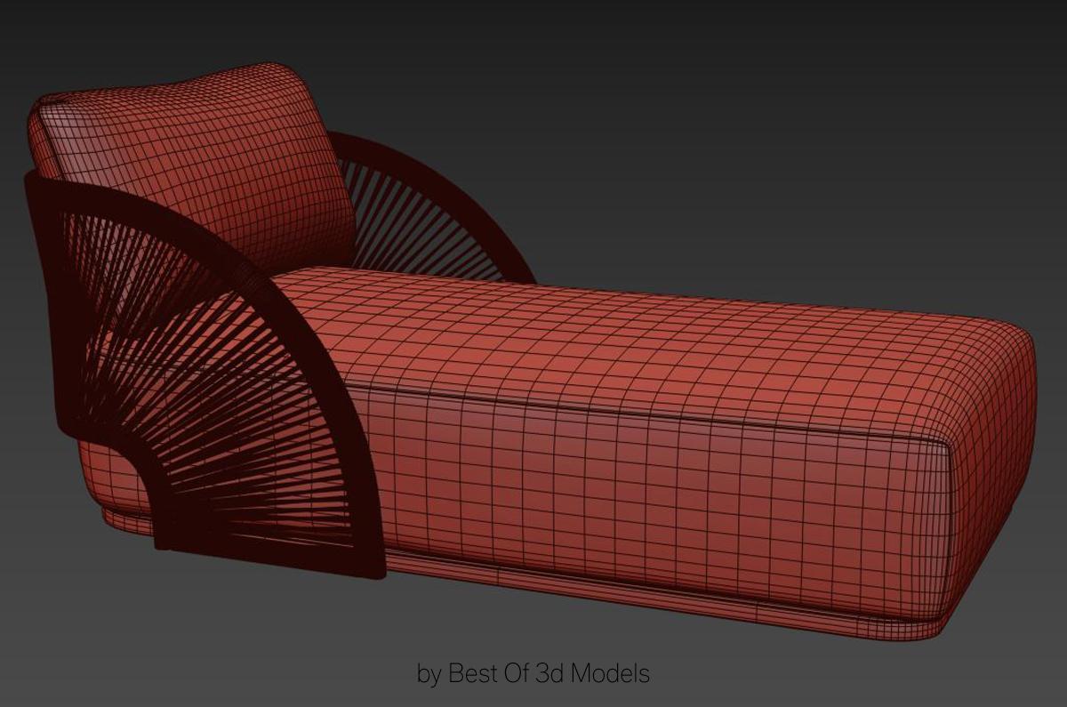 lawn seat 3d model restoration hardware