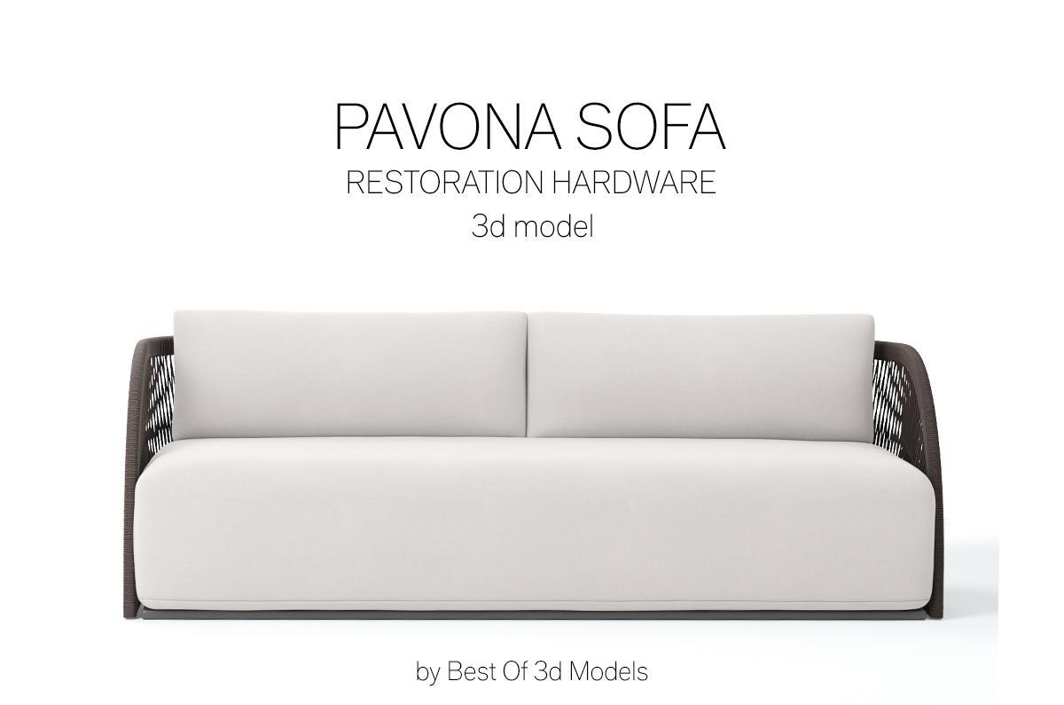 pavona sofa 3d model restoration hardware