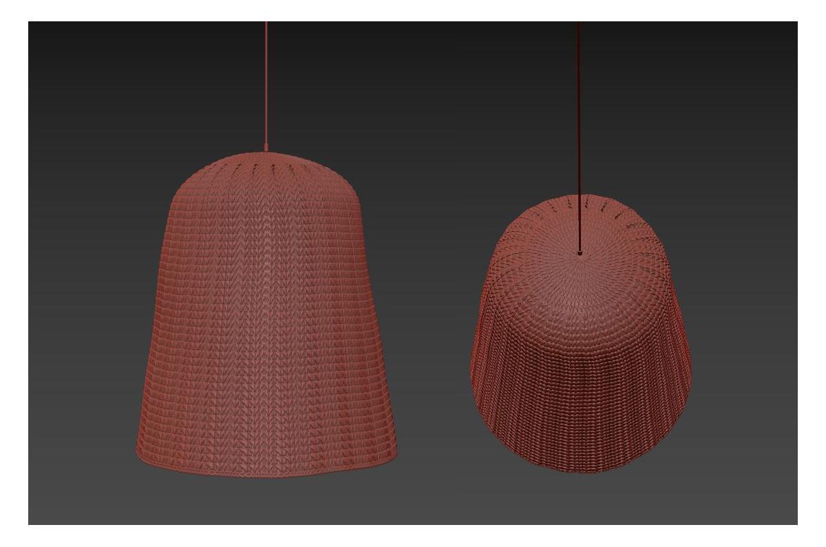 natural lampshade 3d model