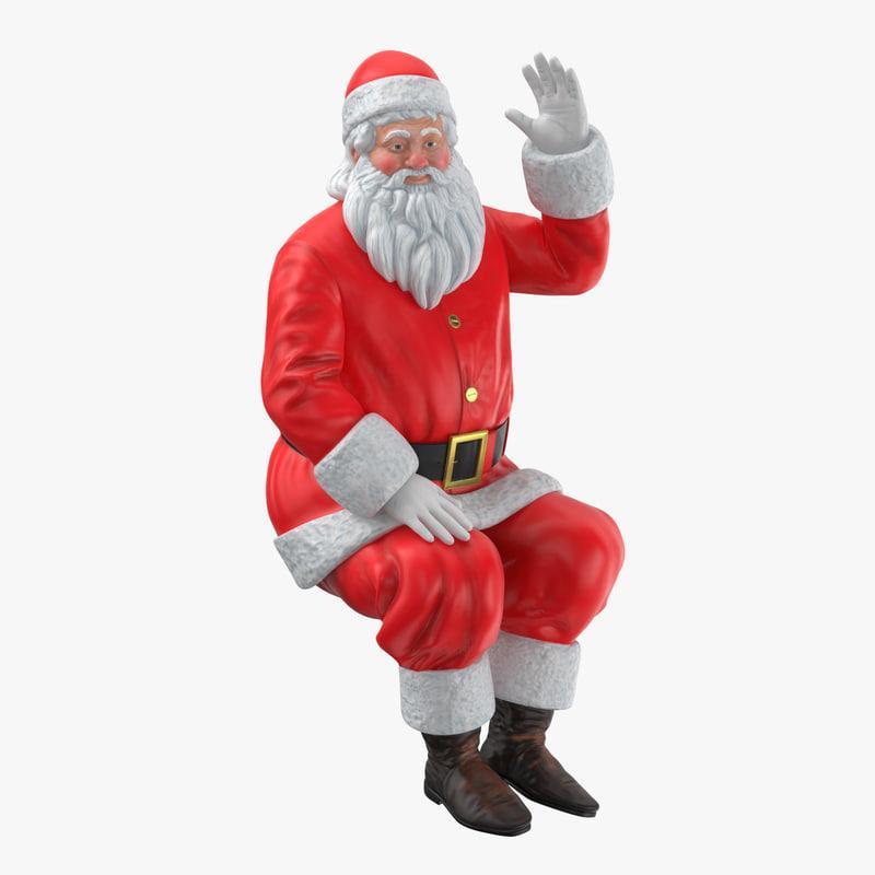 Weihnachtsmann 3d model turbosquid