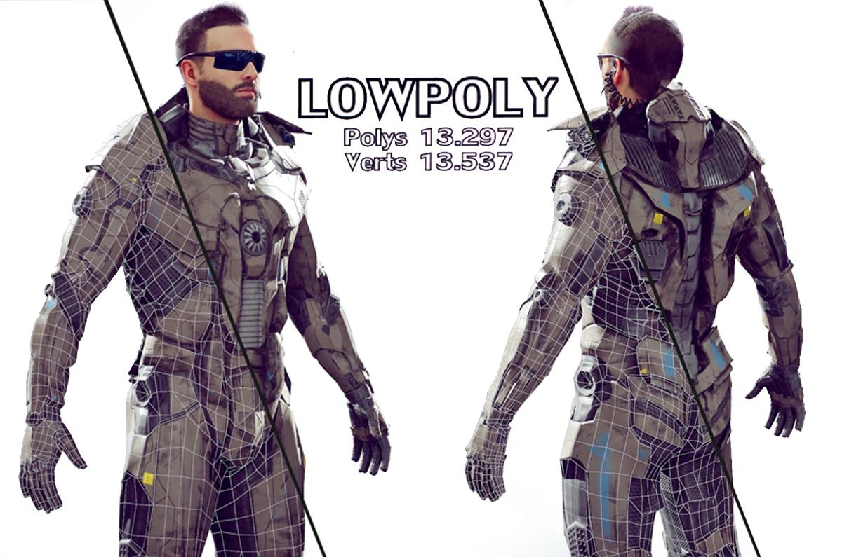 low poly soldier unreal unity 3d model turbosquid
