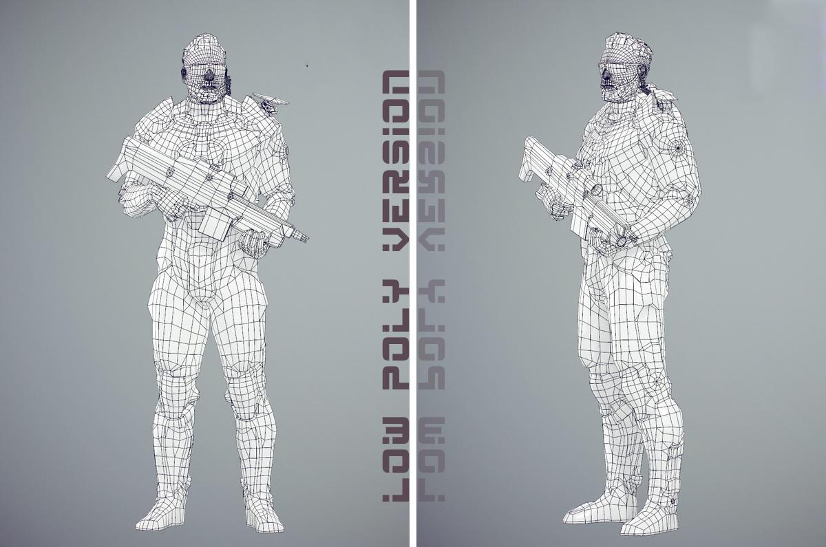 Futuristic soldier armor for war 3d model turbosquid