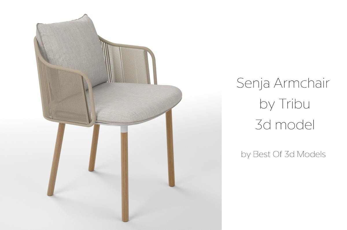 modern outdoor armchair tribu 3d model