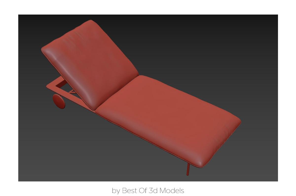pool chair 3d model tribu