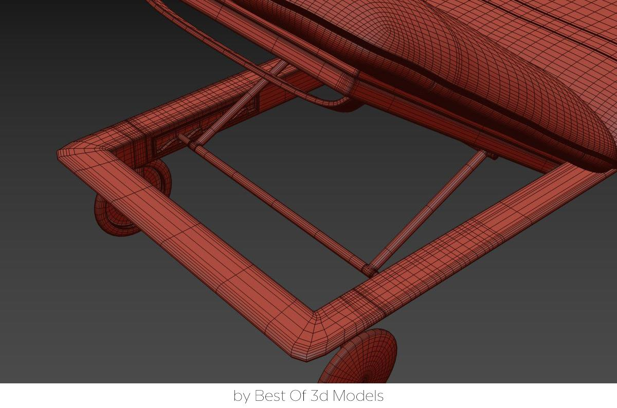 deck chair 3d model tribu