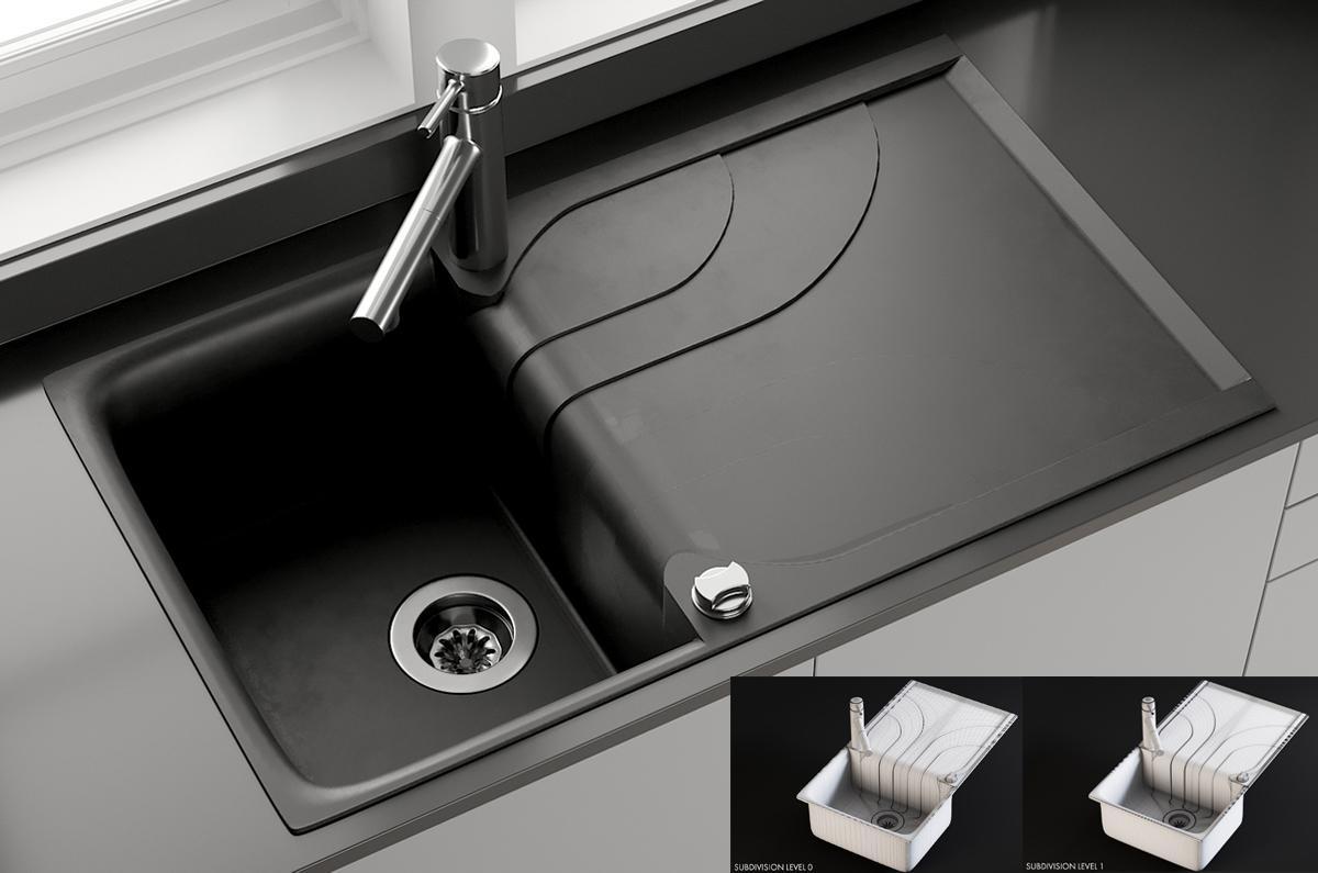 Sink Smeg Mixer Concetto 3d model turbosquid