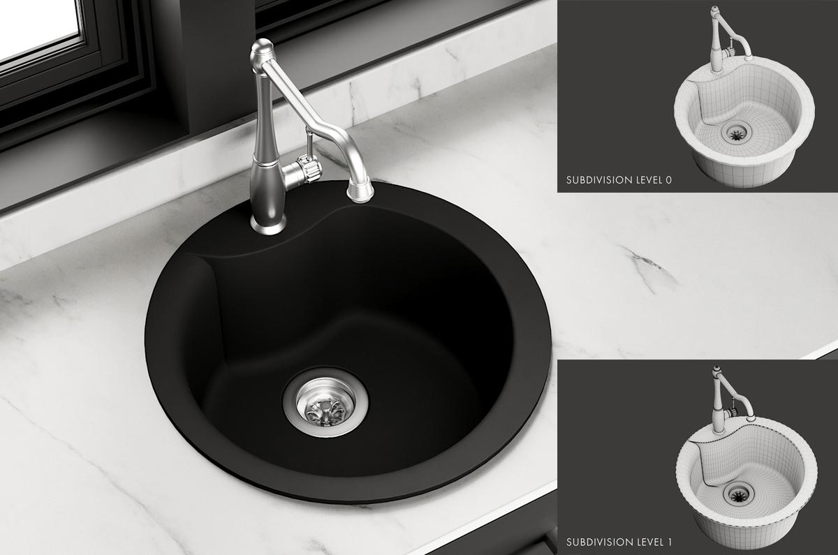 Sink Alba Mixer mco23 3d model turbosquid