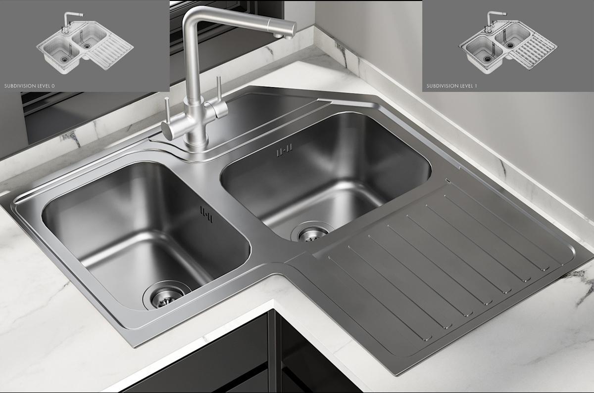 Sink Alba Mixer Amalfi 3d model turbosquid