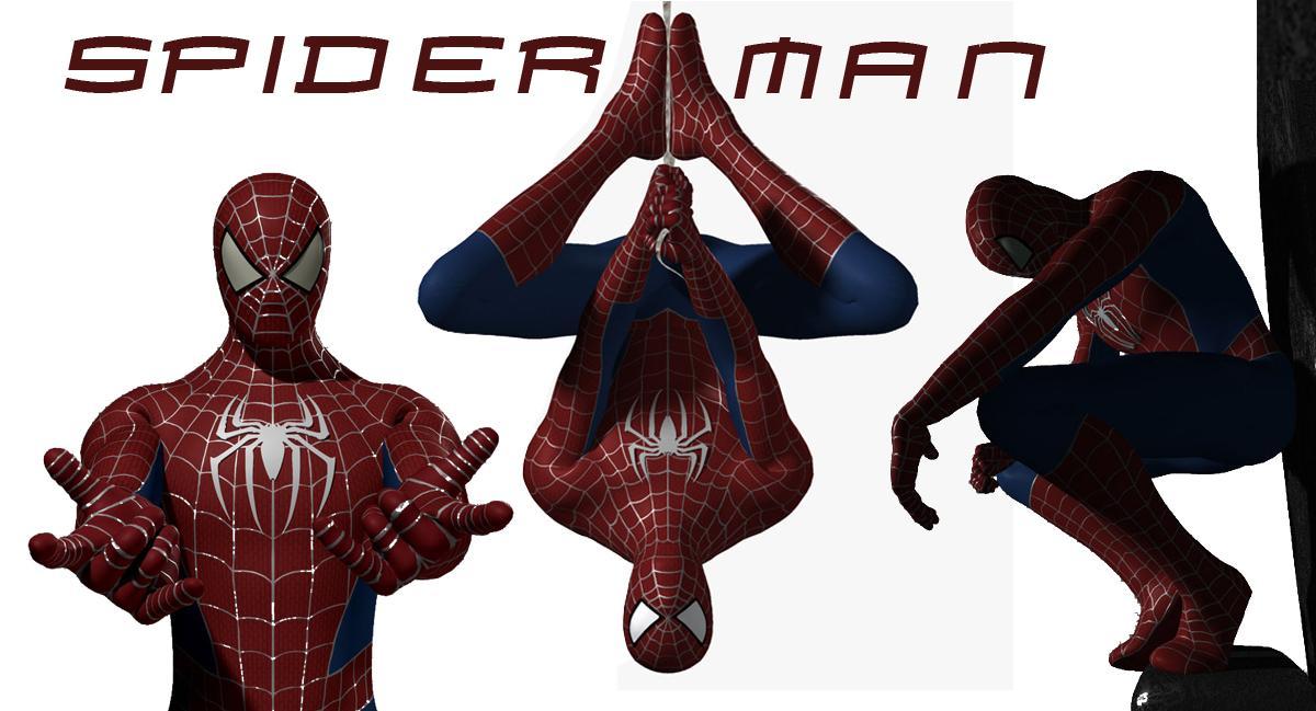 spiderman 3d model turbosquid