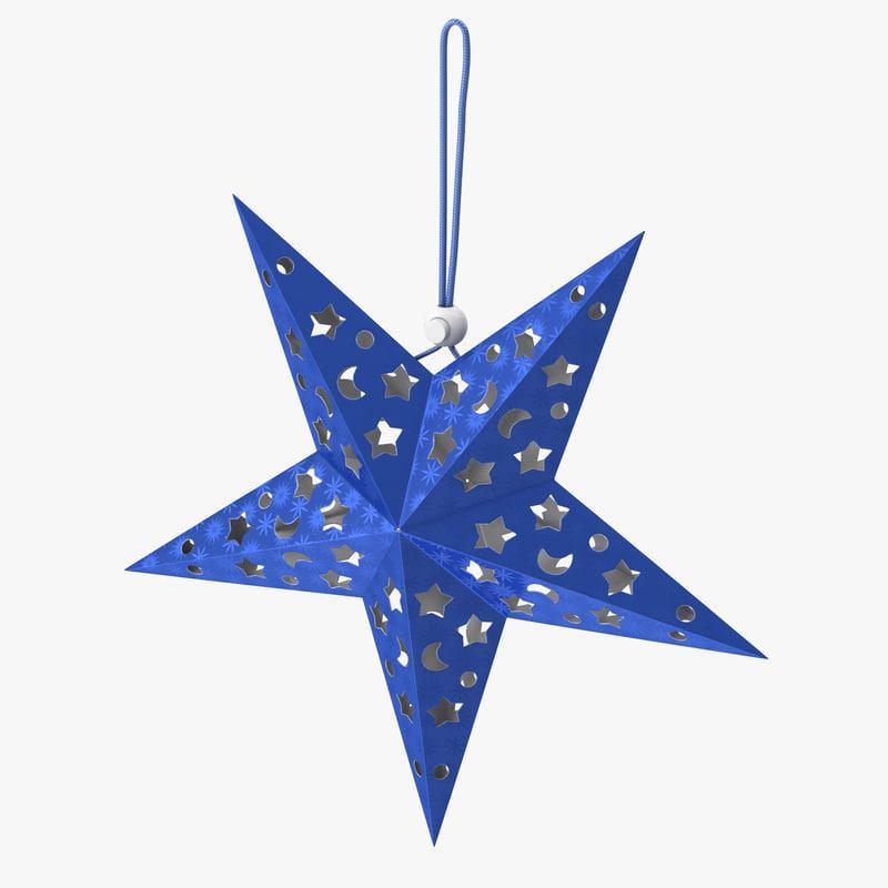 star christmas ornament 3d model turbosquid