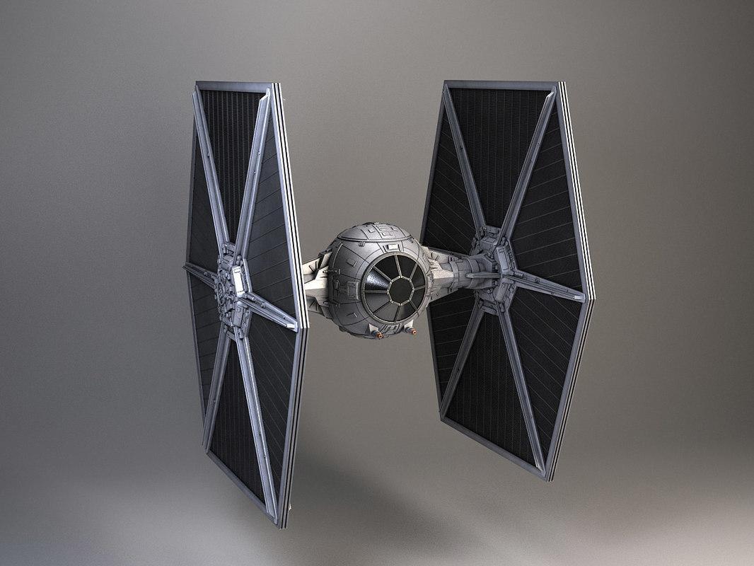 Star Wars TIE Fighter 3d model turbosquid