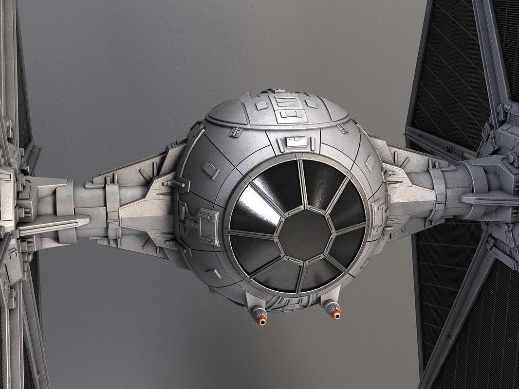 tie craft star wars 3d model turbosquid