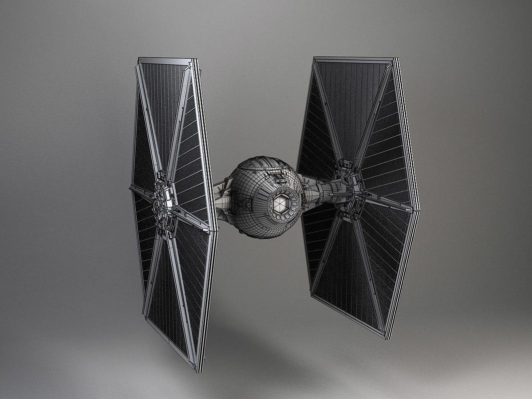 tie star wars fighter 3d model turbosquid