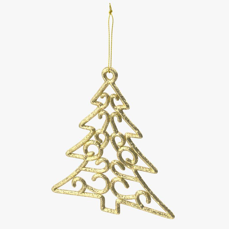 tree shaped christmas ornament 3d model turbosquid