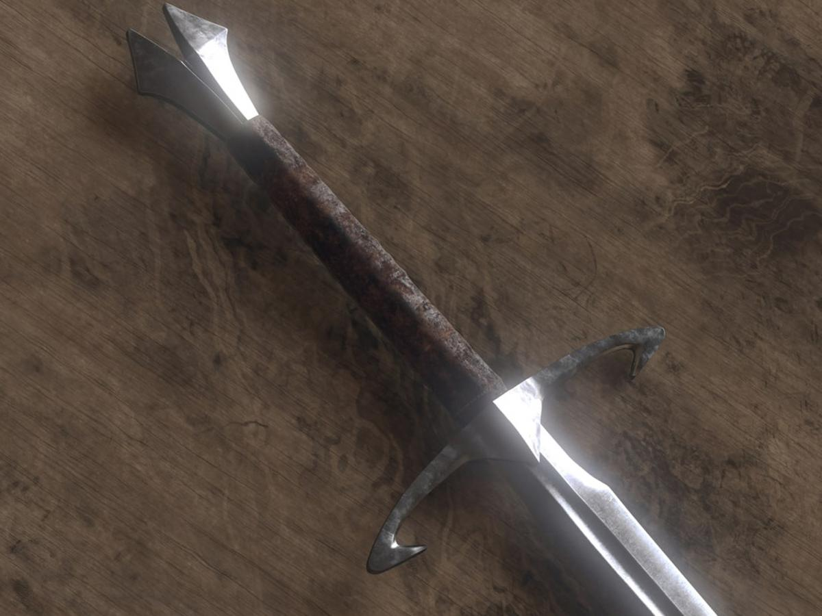 bladed weapon 3d model turbosquid