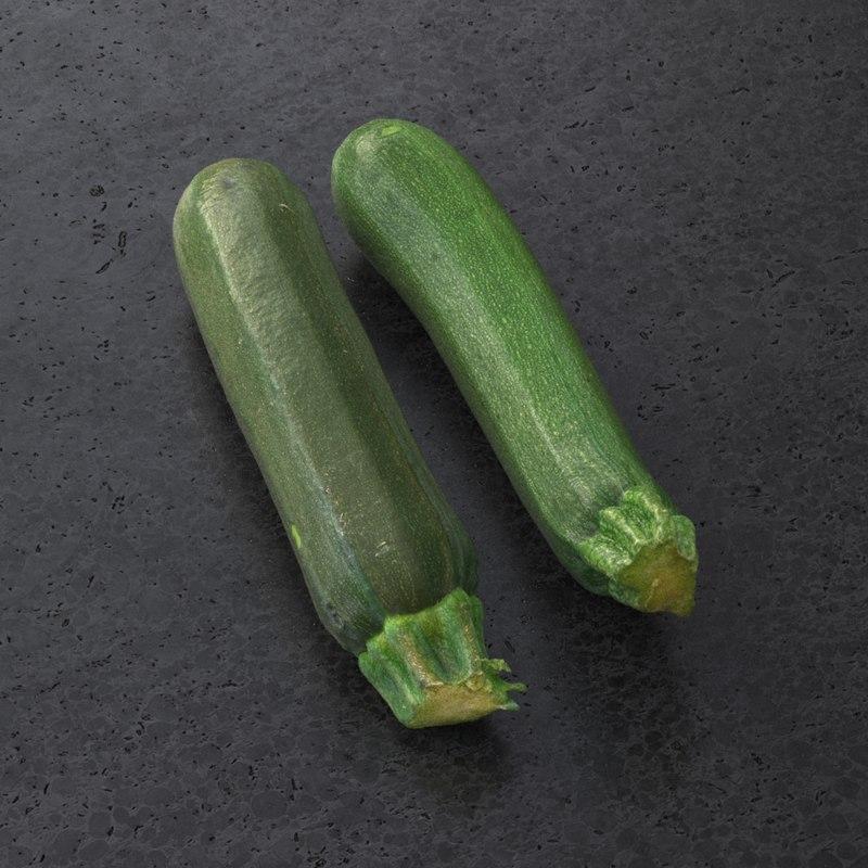 zucchini 3d model turbosquid