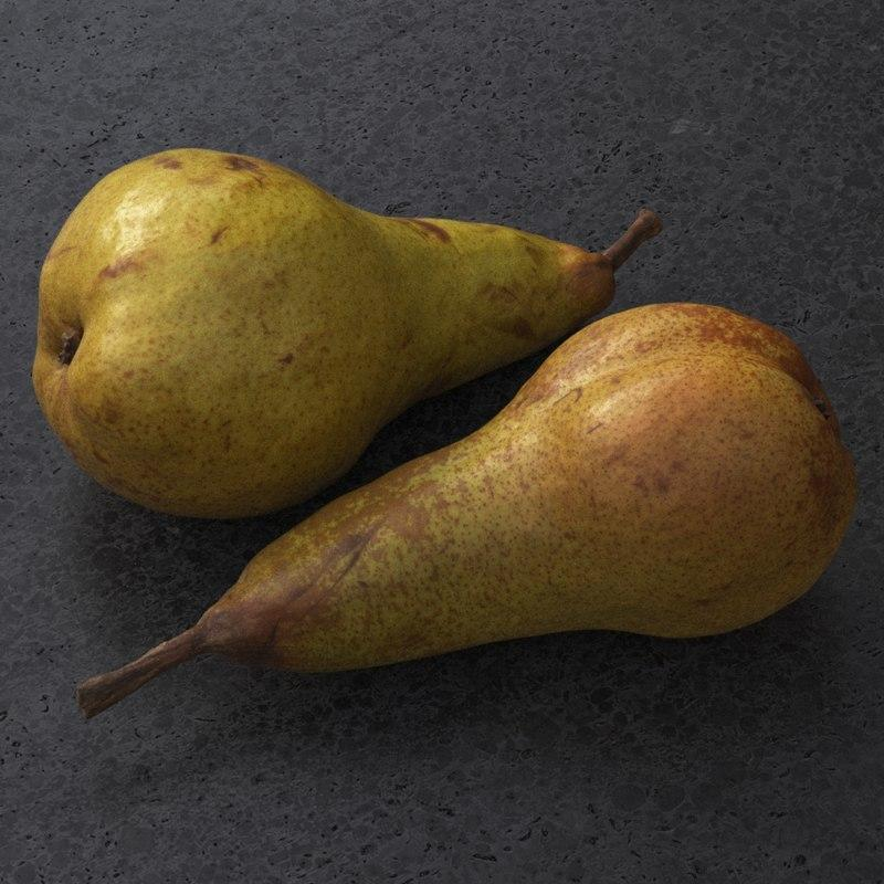 pear 3d model turbosquid