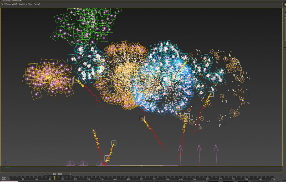 new year fireworks 3d model turbosquid 3dsmax scanline
