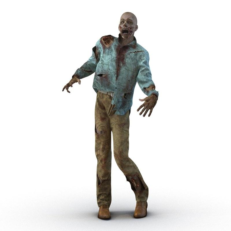 3d model zombie rigged