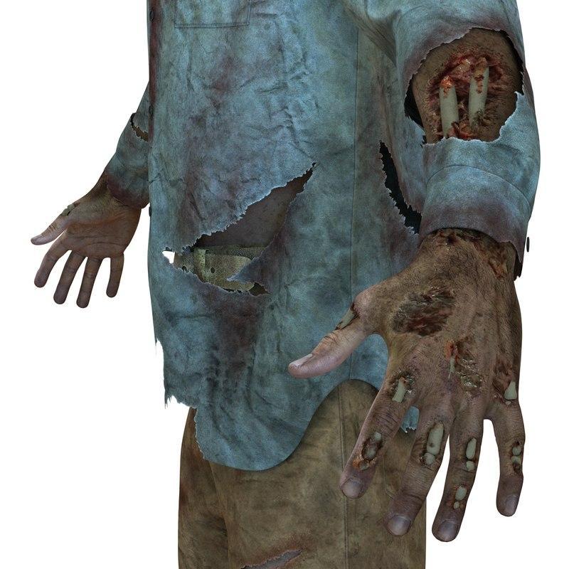 3d model zombie man