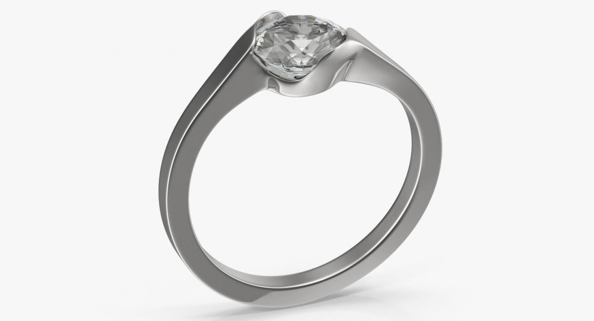diamond ring 3d model turbosquid