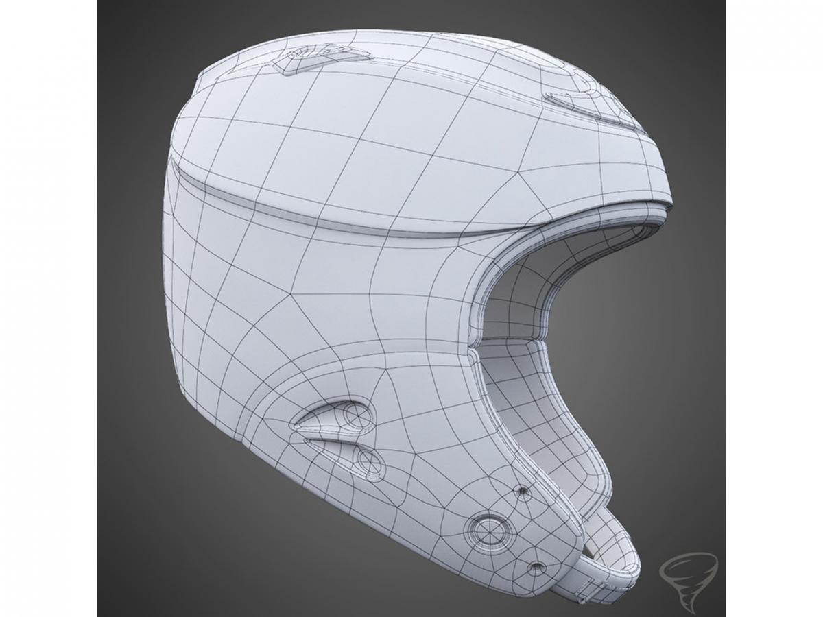 alpine helmet 3d model turbosquid