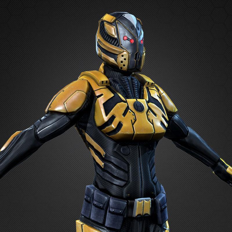 armor for female 3d model turbosquid