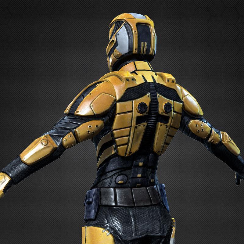 future soldier armour 3d model turbosquid
