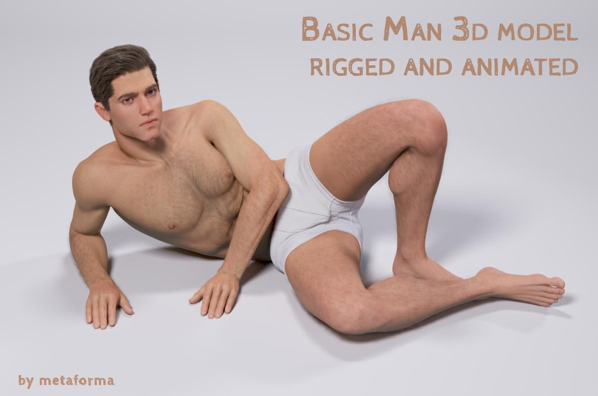 man full body 3d model turbosquid
