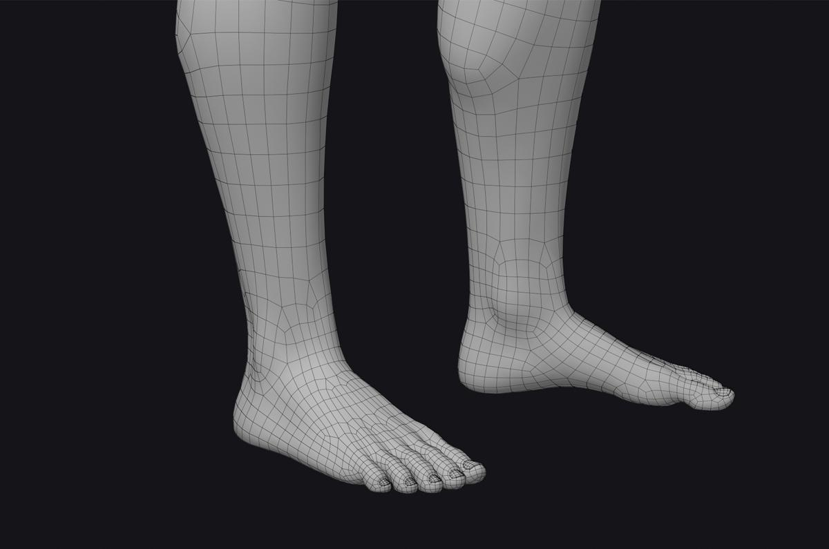 3d human feet turbosquid