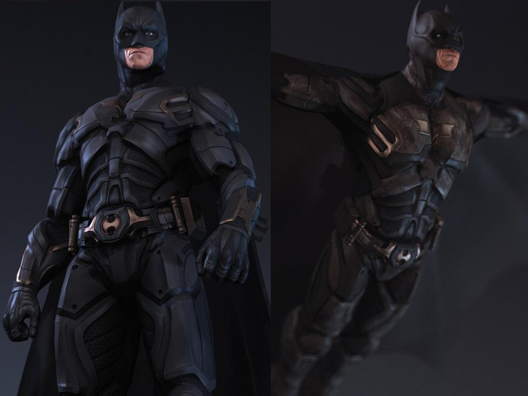 3d model of Batman desert storm