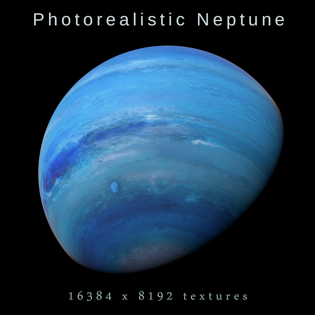 photorealistic neptune 3d model