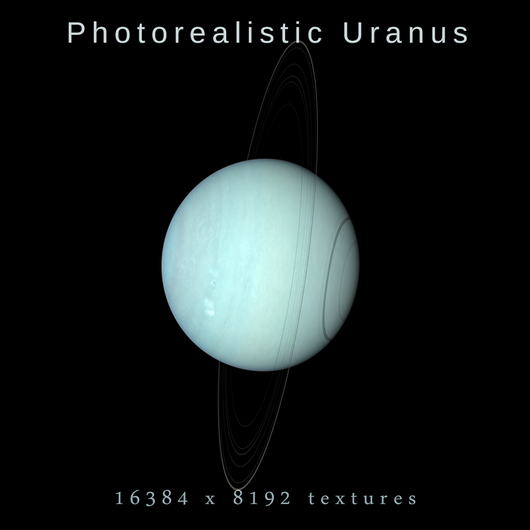 photorealistic uranus 3d model