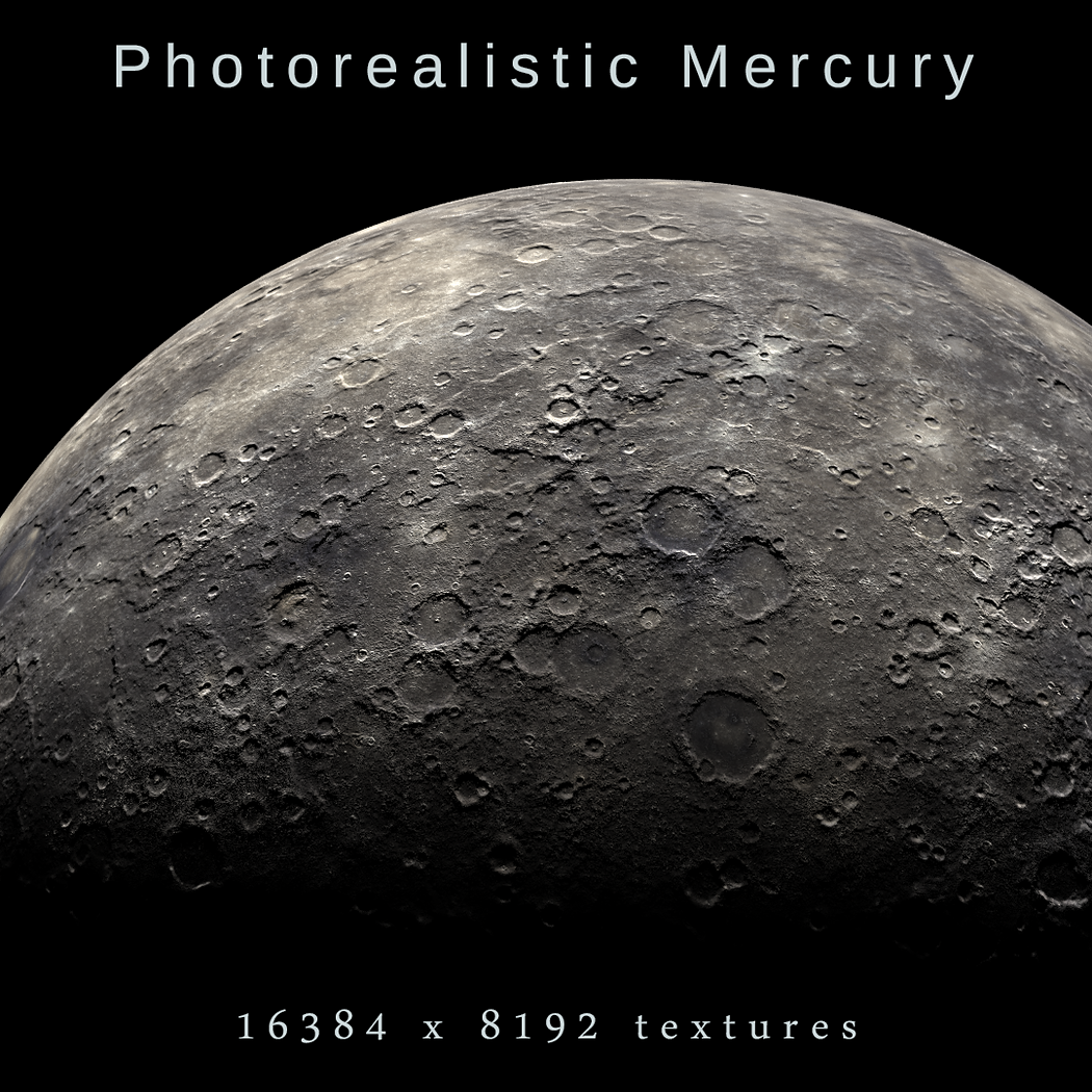 photorealistic mercury 3d model