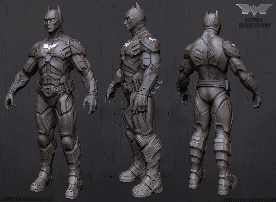 3d model of Batman rigged
