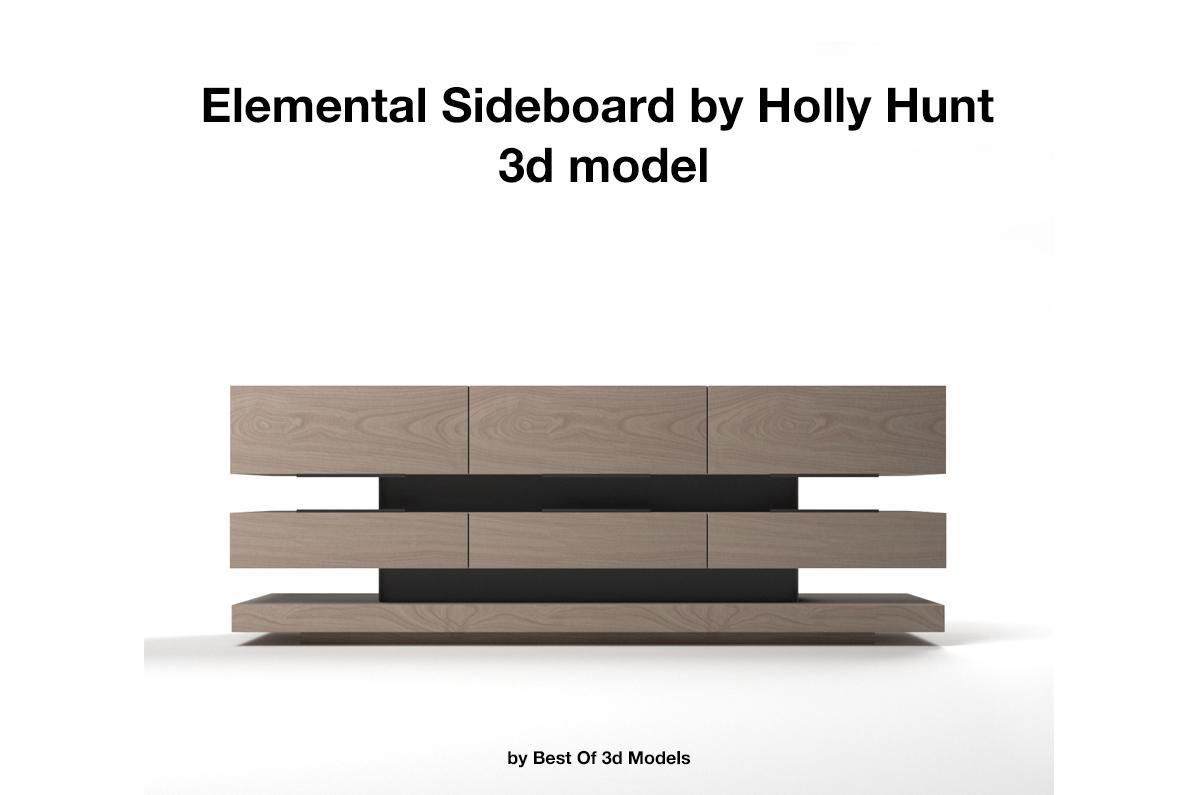 Elemental Sideboard Holly Hunt 3d model