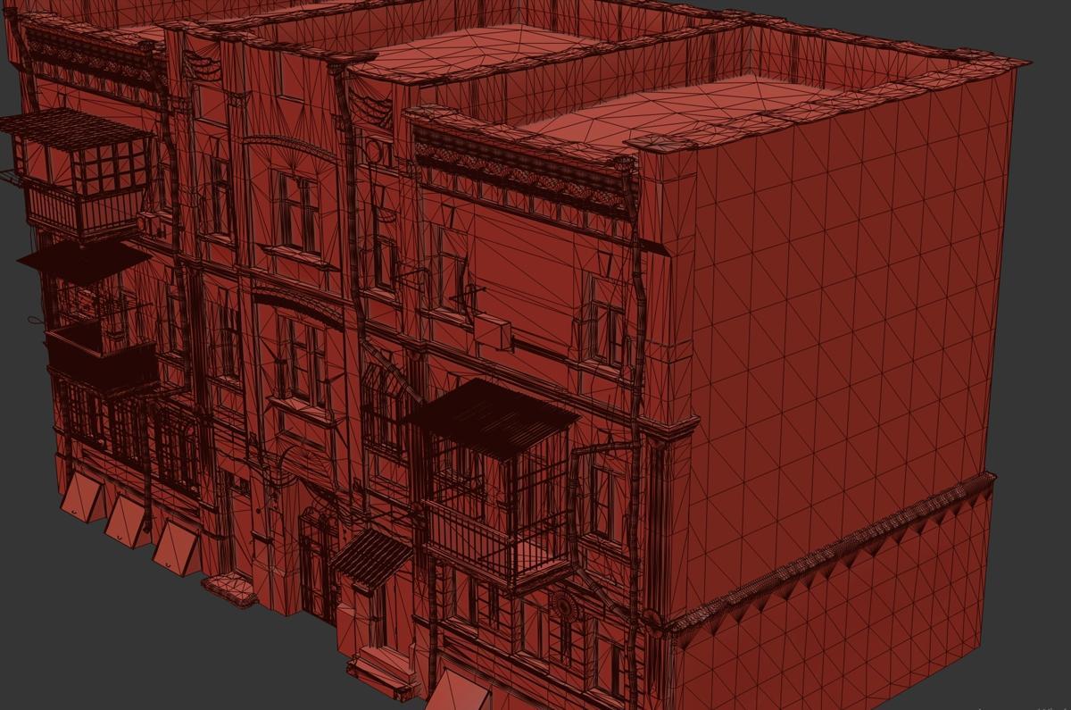 ghetto building 3d model turbosquid