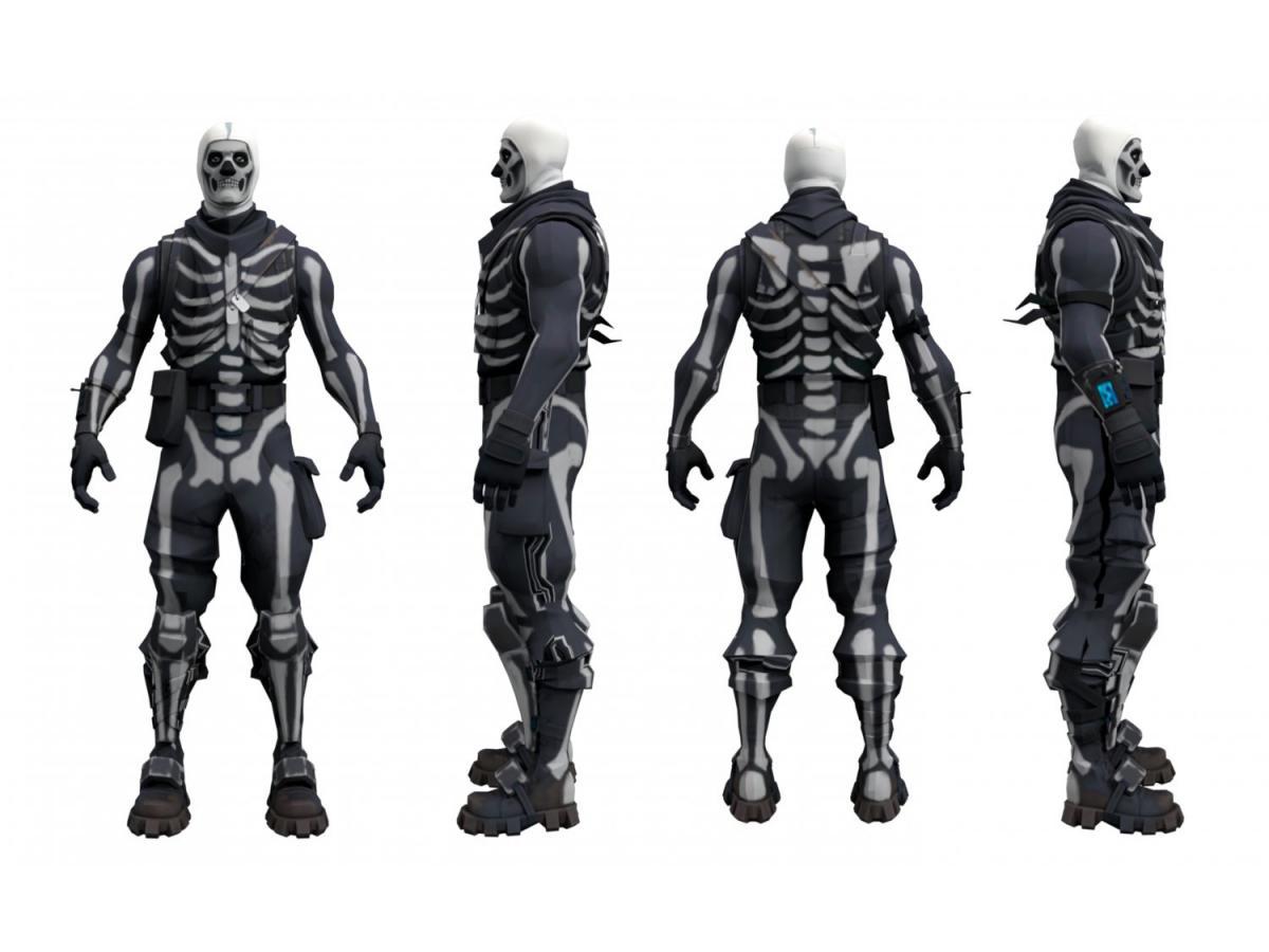 fortnite skull trooper character 3d model 3dexport