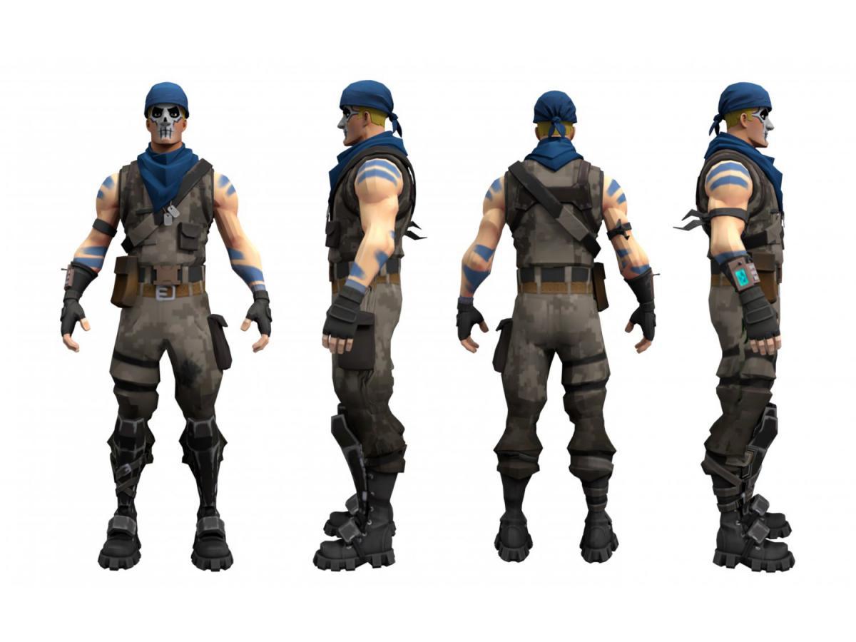 fortnite special force character 3d model 3dexport