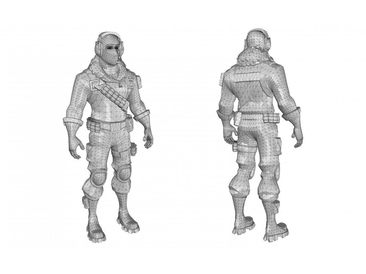 fortnite skins 3d models 3dexport