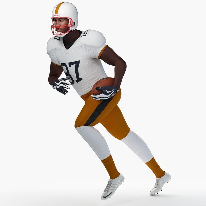football player running 3d model turbosquid