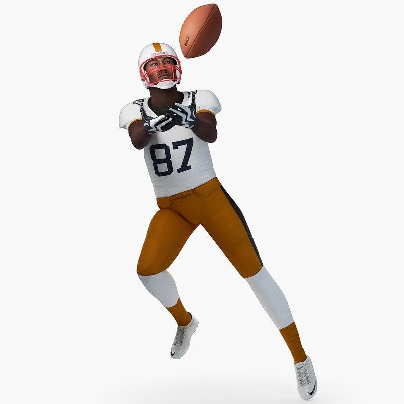 football player passing the ball 3d model turbosquid