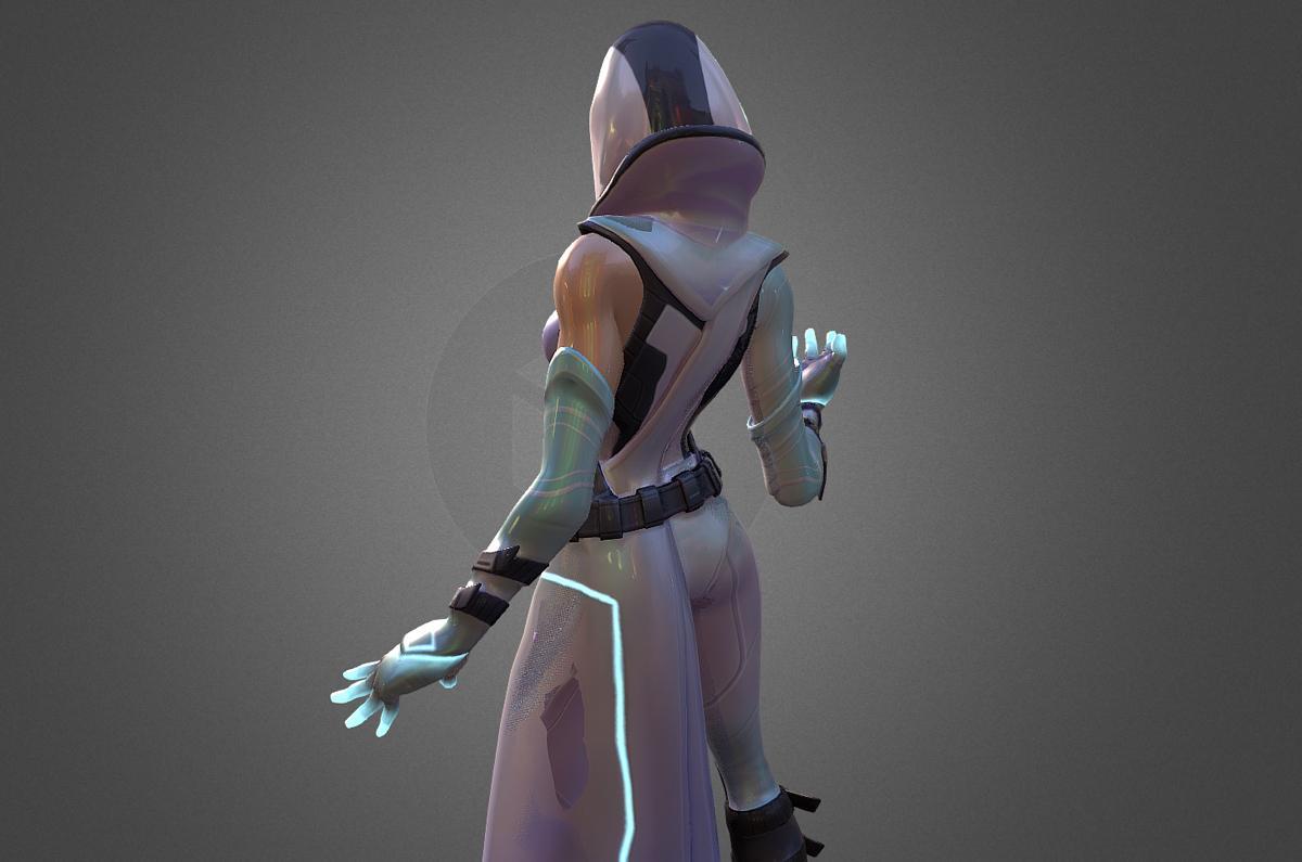 glow fortnite skin free 3d model