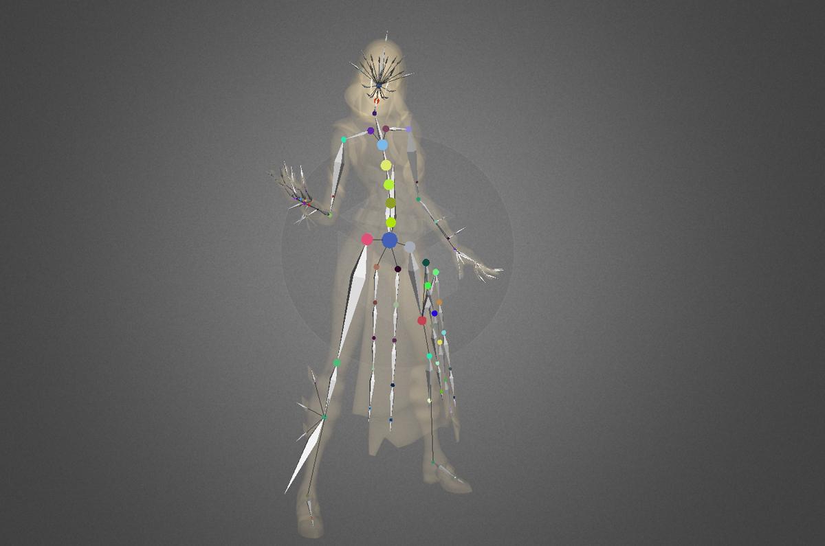 glow fortnite 3d model bones
