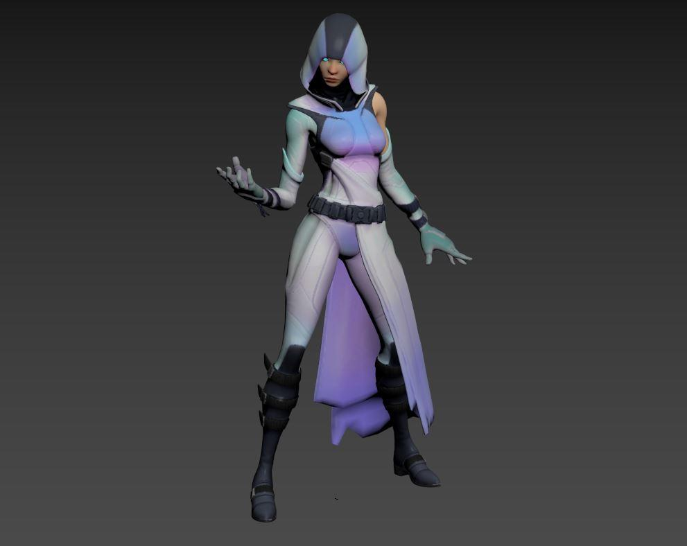 glow fortnite 3d model rigged