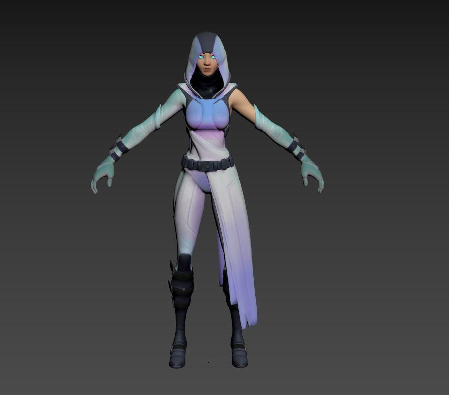 glow fortnite 3d model static pose